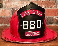 Ladder Co. 880 Vintage Tin Metal Fire Chief Firefighter Hat