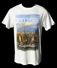 """BRAND NEW +TAG ZOO YORK BOYS (10) """"EASTSIDE"""" TEE T-SHIRT TOP VINTAGE WHITE YOUTH"""