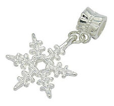 European Style Dangle Charm Bead- silver snowflake   Free Bracelet Offer!