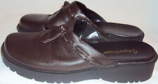 BARE TRAP, LADIES BROWN LEATHER SLIDES, SIZE 6 M,