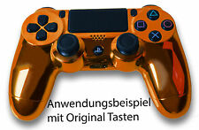 Neu Playstation PS4 Controller Case Hülle Gehäuse Chrome Modding Cover Orange