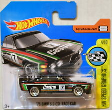 HOT WHEELS 2017 HW SPEED GRAPHICS '73 BMW 3.0 CSL RACE CAR BLACK SHORT CARD