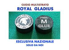 STOCK QT.5 CUOIO MULTISTRATO ROYAL GLADIUS M 14 mm NERO - PER STECCA DA BILIARDO