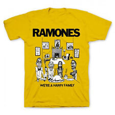 Ramones-Happy Family-X-Large Yellow  T-shirt