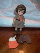 """1965 EFFANBEE 8"""" Official Junior Girl Scout Vintage Doll + Clothes"""