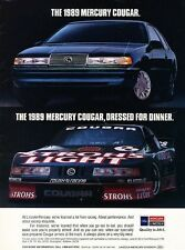1989 Mercury Cougar Roush Race -  Original Advertisement Print Art Car Ad J575