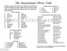 International Morse Code *  Large 13 x 19  High Quality Print * Ham Radio * CW