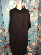 ACTIVE USA JUNIORS PLUS 2XL BLACK TIE NECK HOODED ABOVE KNEE 3/4 SLEEVE DRESS
