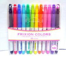 Pilot Frixion Colors / Erasable Marker 12 Color Set / SFC-120M12C / Japan