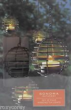 Sonoma Outdoor 4 3 in Ball Hanging Tea Lights w 12 inch length Battery Operated