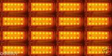 16x ARANCIO 12 LED SMD POSTERIORE INDICATORE LATERALE 24V LUCI CAMION