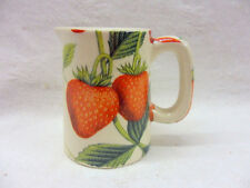 Large strawberry mini cream jug pitcher by Heron Cross Pottery