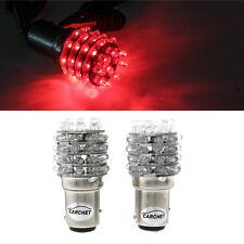 2PCS BAY15D 1157 P21/5W LAMPE AMPOULE FEU 45 LEDS ROUGE PR VOITURE