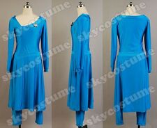 Star Trek Deanna Troi Party Dress Uniform Cosplay Costume Ball Gown Custom Made