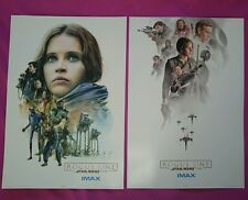 Original Star Wars Rogue One A Star Wars Story Imax Posters Week 2 and 3 A3 NEW