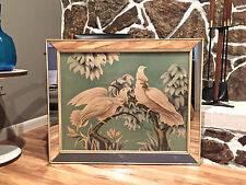 Vintage 1950's Turner Cockatoos Mirrored Wall ART Mid-Century Modern Florida