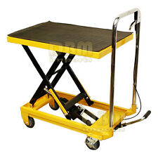 "Portable 330 LB Hydraulic Scissor Table Lift 9"" to 28"" Jack Cart Truck Mobile"