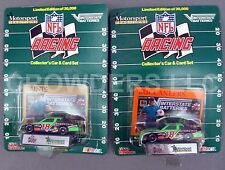 NFL Racing Car & Card Set New Orleans Saints & Tampa Bay Buccaneers NASCAR '92