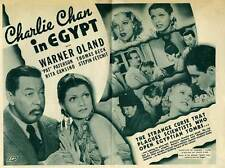 CHARLIE CHAN IN EGYPT Movie POSTER 22x28 Half Sheet B Warner Oland Pat Paterson