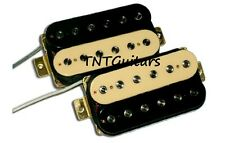 Dragonfire SCREAMERS Humbucker Pickup SET, Bridge&Neck HH Pups CREAM-BLACK ZEBRA