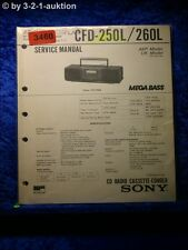 Sony Service Manual CFD 250L / 260L Cassette Recorder (#3460)