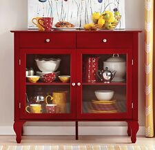 Dining Room Storage Furniture Red Buffet Sideboards Serving Table Shelves Drawer