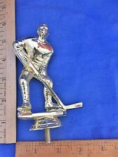 Male Hockey Player With No Helmet Gold Trophy Topper