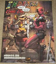 Adam Pollina SIGNED Deadpool & Rocket Racoon Art Poster Guardians of the Galaxy