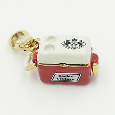 Juicy Couture Champagne Bottle in Red Cooler Key Chain Charm Dog Collar Charm