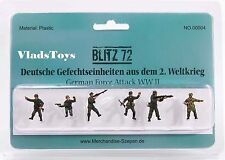 Blitz72 1:72 World War II German Attack Forces Figures Set of 6 BL00004