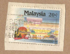 Ori mounted on envelope Visit Malaysia Year  stamp:  20c