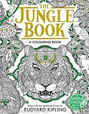 The Jungle Book Adult Colouring Book Mowgli Baloo Creative Art Therapy Relaxing