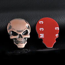 Newly 4Colors Skull Skeleton Car/Motorcycle Decal 3D Metal Sticker Emblem Badge