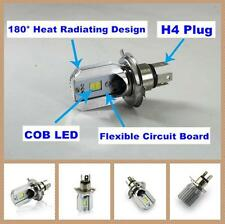 1x 6000K White COB LED Hi/Lo Beam H4 Motorcycle Headlight Front Light Bulb Lamp