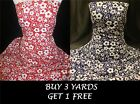 Poppy Flowers Floral Cotton print dress-making crafts fabric material *OFFER*