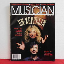 Led Zeppelin Musician Magazine Robert Plant Jimmy Page Issue 194 December 1994!