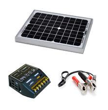Kit panneau solaire 10W 12V avec régulateur de charge pour site isolé.