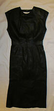 vintage MARIO ZARELLI black leather long maxi DOM sexy open back dress 13 / 14