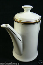 KRONESTER BAVARIA Germany Porceleain China Coffee Tea Pot white gold trim