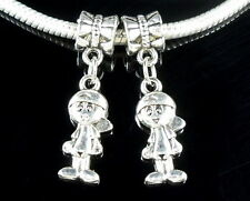 40 Tibetan Silver Boy Dangle Charms Fit Bracelet ZY27