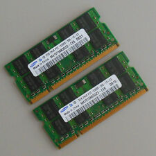 Samsung 4GB 2X2G DDR2  667MHZ PC2-5300 SODIMM Non-Ecc laptop notebook memory RAM