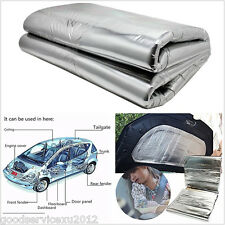 DIY 1*1.4m Car Hood Turbo Exhaust Muffler Insulation Heat Shield Mat Pad Cotton