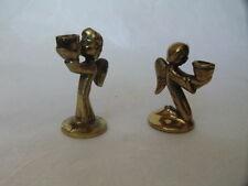 2 Kerzenständer Engel Putte Uhrdeko Uhr Tisch Kunst Deko Art  H 4 cm Sammeln
