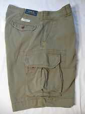 POLO Ralph Lauren Mens Cargo Shorts NWT 36 Olive Green 100% Cotton