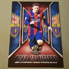 Lionel Messi Red 12/25 Road Victory 2015-16 Topps UEFA Champions League Showcase