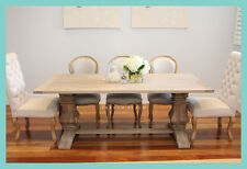 **Pre-order** NEW French Provincial Hamptons Refectory Pedestal Oak Dining Table