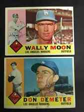 Wally Moon Signed 1960 Topps Card LA Dodgers with COA