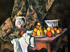 PAUL CEZANNE STILL LIFE WITH APPLES PEACHES OLD MASTER PAINTING PRINT 2115OMA