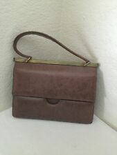 Gucci Vintage Brown Leather Hand  Bag w/ Wallet