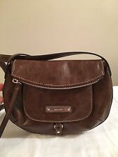 Nine West Cross Body in Chocolate Leather